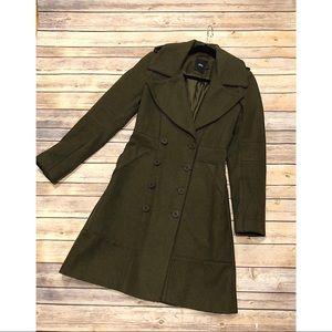 ASOS Green Pea Coat Size US 2